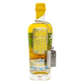 Club Tropicana gin 70cl Bottle with yellow wax seal and ginflask