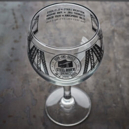 Steel River Goblet. Gin glass with Steel River Logo in Matt black