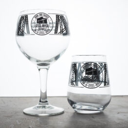 Steel River Tumbler and Goblet.