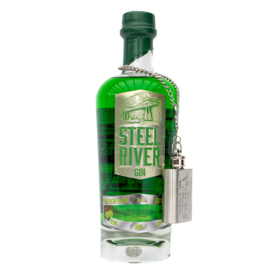 Northern Lights Gin 70cl Bottle with Green wax seal and ginflask