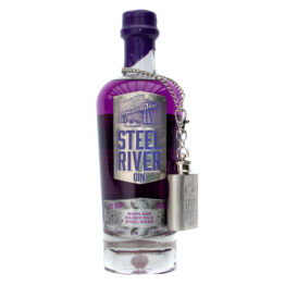 Very Berry 70cl Bottle with purple wax seal and gin flask