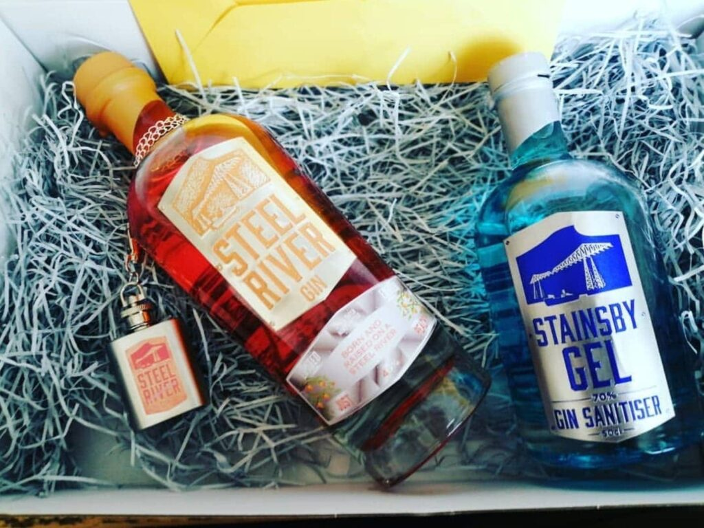 Just Peachy Gin in 265 Club box with additional extras