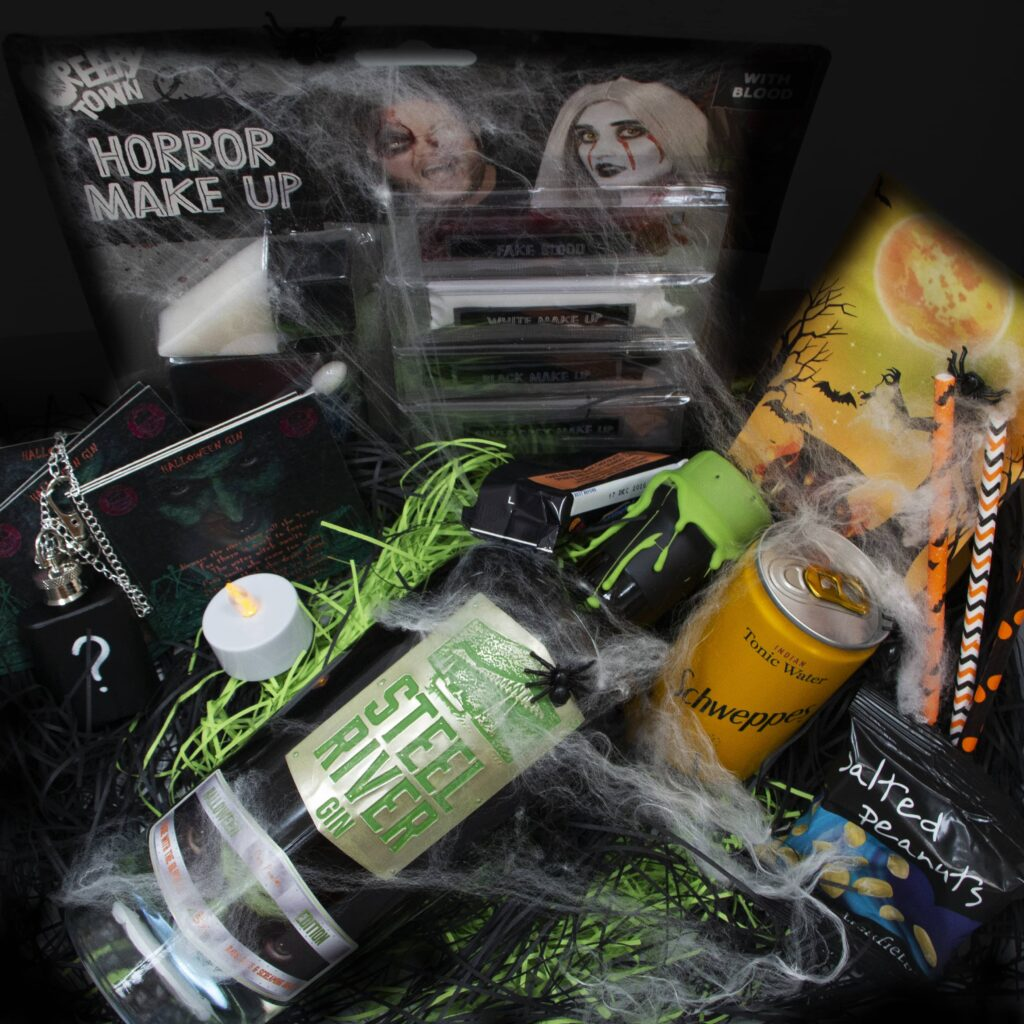 Halloween Gin in 265 Club box with additional extras