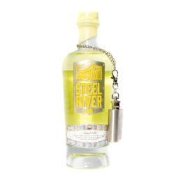 Yellow Simnel Cake Easter Gin Bottle with Gin flask